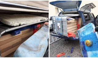 Łódzka KAS udaremniła transport kontrabandy na A1. Była ukryta w ...pudełkach do pizzy